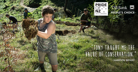 Bullswool Heritage Farm Native Bird Reserve is the winner of 2014 Pride of NZ Award for its conservation work